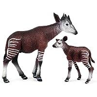 LAOJIA 2 figuras de animales de juguete, decoración