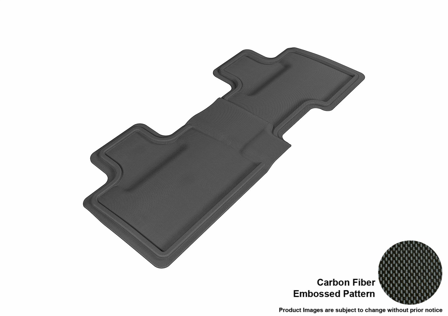Kagu Rubber 3D MAXpider Complete Set Custom Fit All-Weather Floor Mat for Select Ford Edge Models Gray
