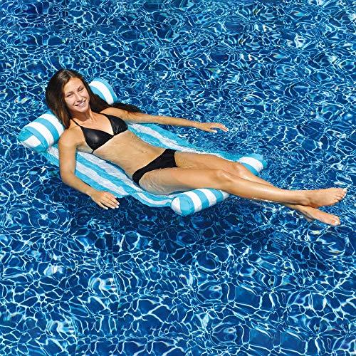 Swimline New 9044 Premium Swimming Pool Floating Water Hammock Lounge Chair