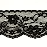 Expo International 2-3/4in Chantilly Lace Trim Black