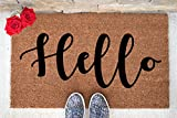 Hello Doormat - Custom Doormat - Custom Last Name Doormat - Personalized Door mat - Personalized Welcome Mat - Hand Painted Door Mat