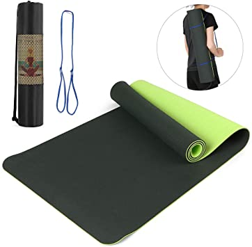 Lixada Yoga Mat -TPE Friendly Eco Non-Slip Yoga Mat Exercise & Fitness Mat,Workout Mat for All Type of Yoga, Pilates and Floor Exercises with Gift ...