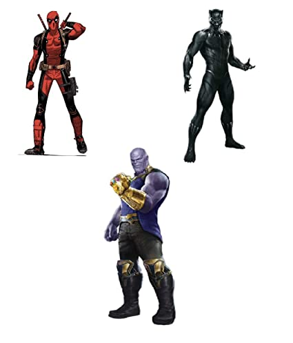 8 Inch Tall DIY Avenger Shirt Avenger Patch Iron On Patch Heat Transfer  Paper for T Shirt Jersey Jacket Hat (Black Panther Thanos Deadpool)