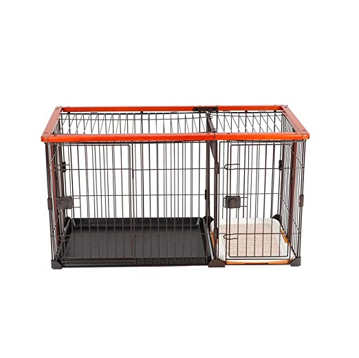 Inicio Descuento jaula para mascotas con bandeja, Plegable Perro ...