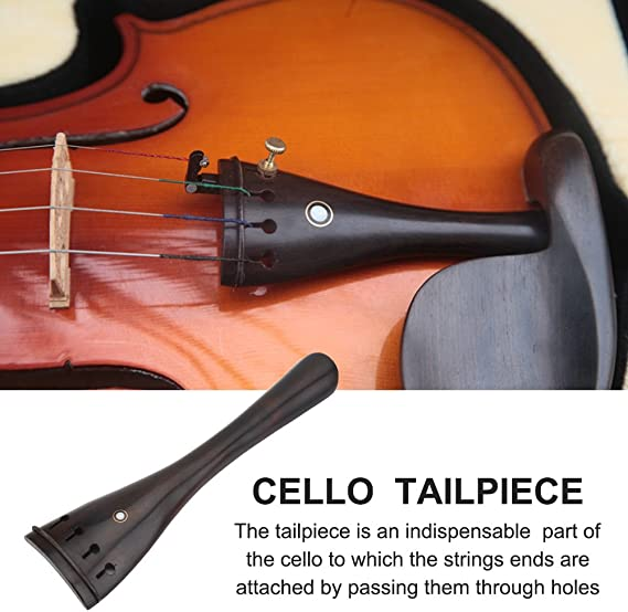 Cello Tailpiece Aluminum Alloy Tailpiece with Adjustable Tailgut for 3//4 4//4 Cello String Instruments Parts