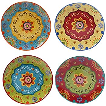 Certified International 22450SET/4 Tunisian Sunset Dinner Plates, Set of 4 10.5