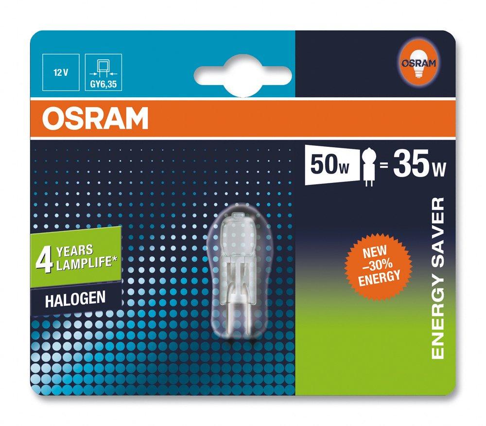 GY6.35-Sockel Ersatz f/ür 50 Watt dimmbar 2er-Pack 12 Volt Osram HaloStar Halogen-Stiftsockellampe Warmwei/ß 3000 K 35 Watt