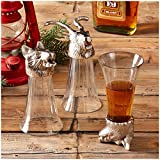 Two's Company Breckenridge Animal Head Shooter Glasses Set of 3 - Multicolor