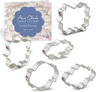 product image for Ann Clark Cookie Cutters 5-Piece Plaque and Frame Cookie Cutter Set with Recipe Booklet, Square Plaque, Oval Plaque, Photo Plaque, Long Fancy Plaque and LilaLoa's Square Plaque