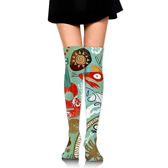 01d53c27c ManIron Modern Tiki Hilton Women s Knee High Socks Fancy Design ...