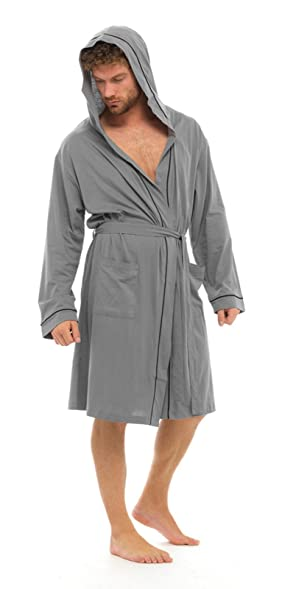 Strong Souls Mens Lightweight Hooded Dressing Gown at Amazon Men\'s ...