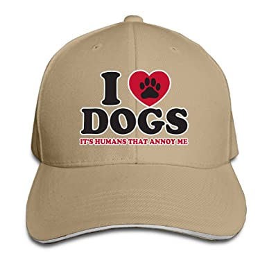 Nubia I Love My Dog Quotes Sun Protection Hat Adjustable Hat Natural