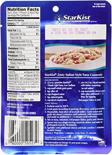 Tuna pouch nutrition facts nutrition ftempo for Calories in tuna fish