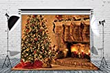 LB 7x5ft Christmas Cotton Photography Backdrop Customized Photo Background Studio Prop Collapsible and Washable (Updated Material) No Wrinkle SD324