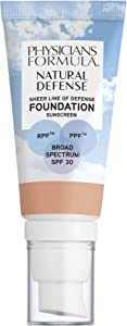 Physicians Formula Natural Defense Sheer Line of Defense Foundation SPF 30, Fair-to-Light, 1 Ounce