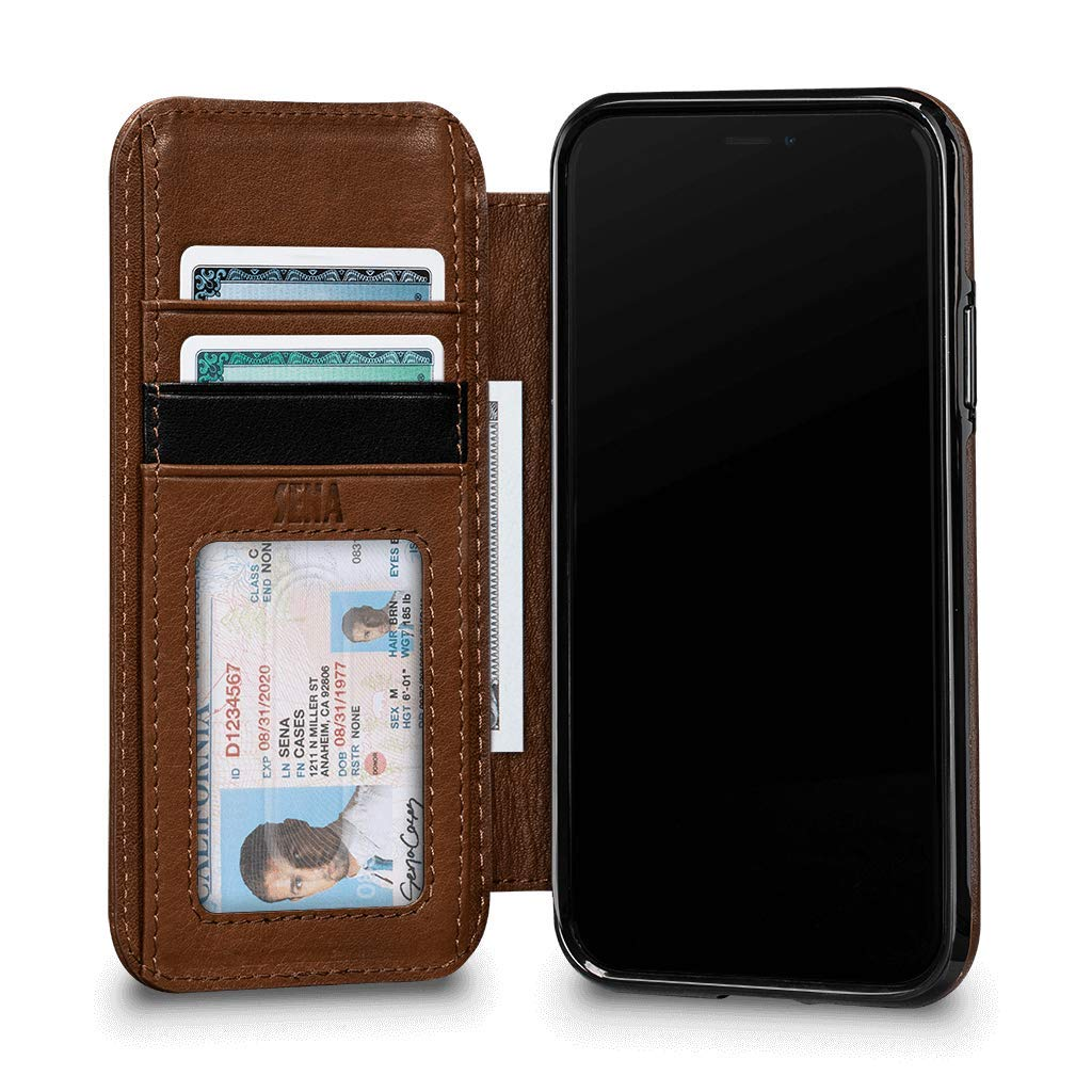 Sena Cases, Deen Wallet Book Leather Case iPhone XR