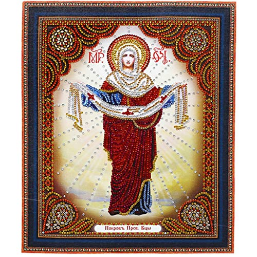 Redwork Kitchen - Diamond Painting by Number Kits DIY 5D Crystal Rhinestone Special Shape Diamond Embroidery Paintings Pictures Wall Arts Craft for Home Wall Decor - Jusus Pattern (B)