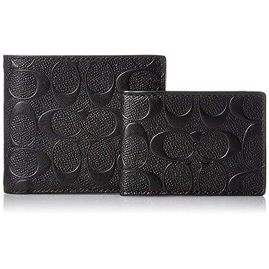 Amazon.com: F75371 - Cartera de piel de ciruela, color negro ...