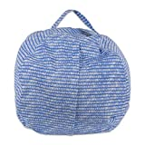 DII Large Sit 'n Stuff Children's Bean Bag Cover, Fill with Stuffed Animals, Keeping Score Print - Bright Blue