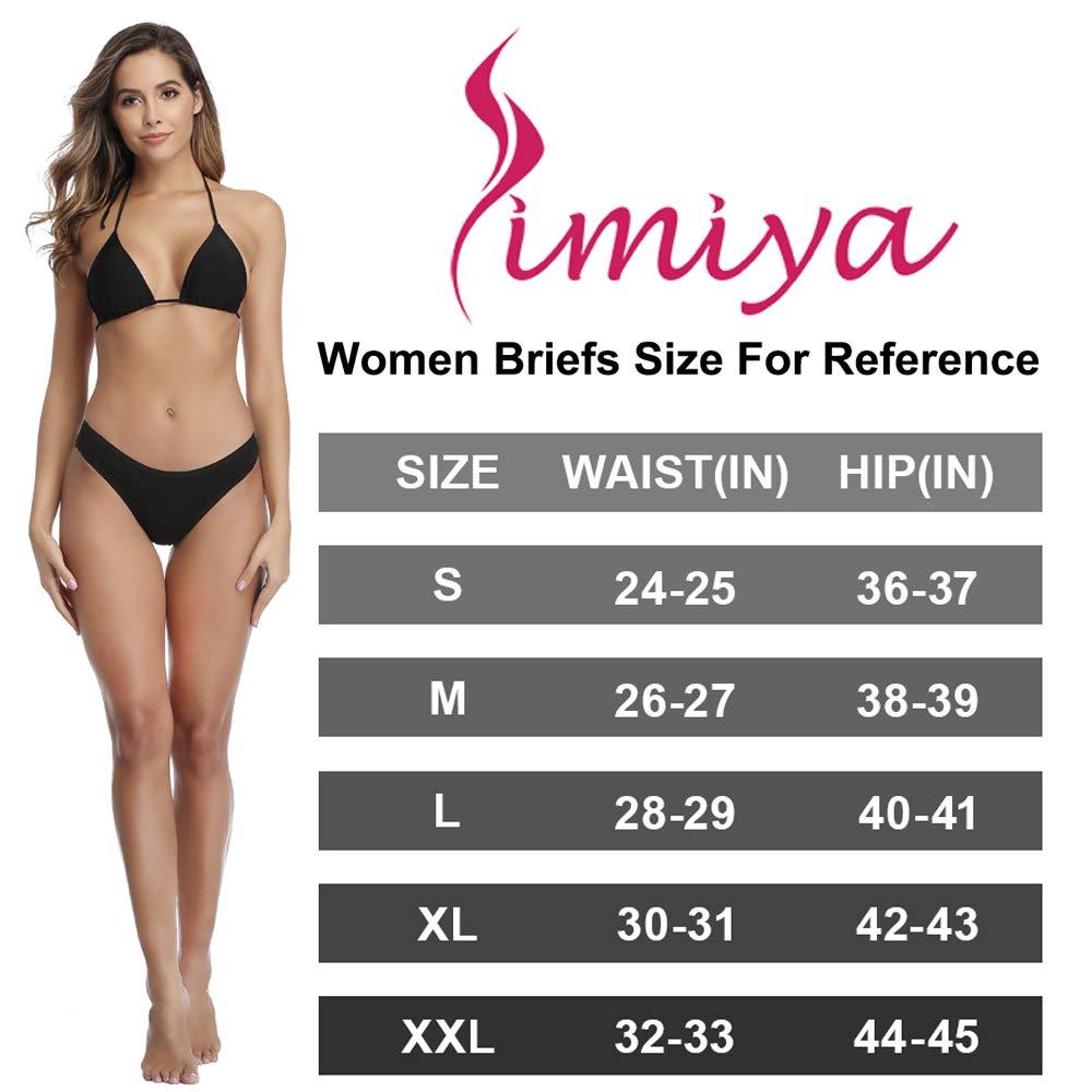 SIMIYA Womens Cotton Underwear Comfort Breathable Bikini Panties,Pack of 7