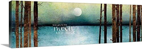Love You to The Moon and Back Canvas Wall Art Print