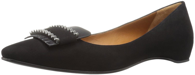 Aquatalia Women's Monica Suede Pointed-Toe Flat B01EX74VZK 7 B(M) US|Black