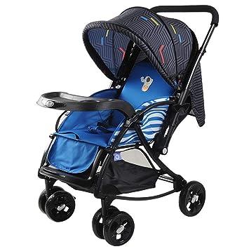 XYQ Carrito de bebé-Carrito de bebé Azul/Rojo Plegable ...
