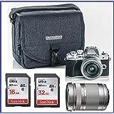 Olympus OM-D E-M10 Mark III (Mark 3) Mirrorless Digital Camera with 14-42mm EZ Lens + M.Zuiko Digital ED 40-150mm f/4.0-5.6 R Lens (Silver) + 32GB SDHC Memory Card + Camera Bag