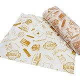 50 PCS Baking Parchment Oil-Proof Paper Hamburg Wrapper Candy Wrapper 25X21.8 CM