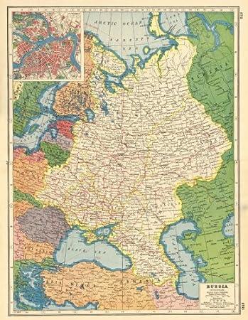 Amazon Com European Russia Petrograd St Petersburg Plan Little