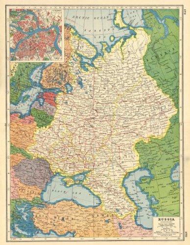 Amazon.com: EUROPEAN RUSSIA. Petrograd (St Petersburg) plan ...