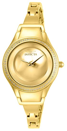 6ac2c9f8ff2c Invicta Angel Reloj de Mujer Cuarzo Suizo Correa y Caja de Acero 26766   Amazon.es  Relojes