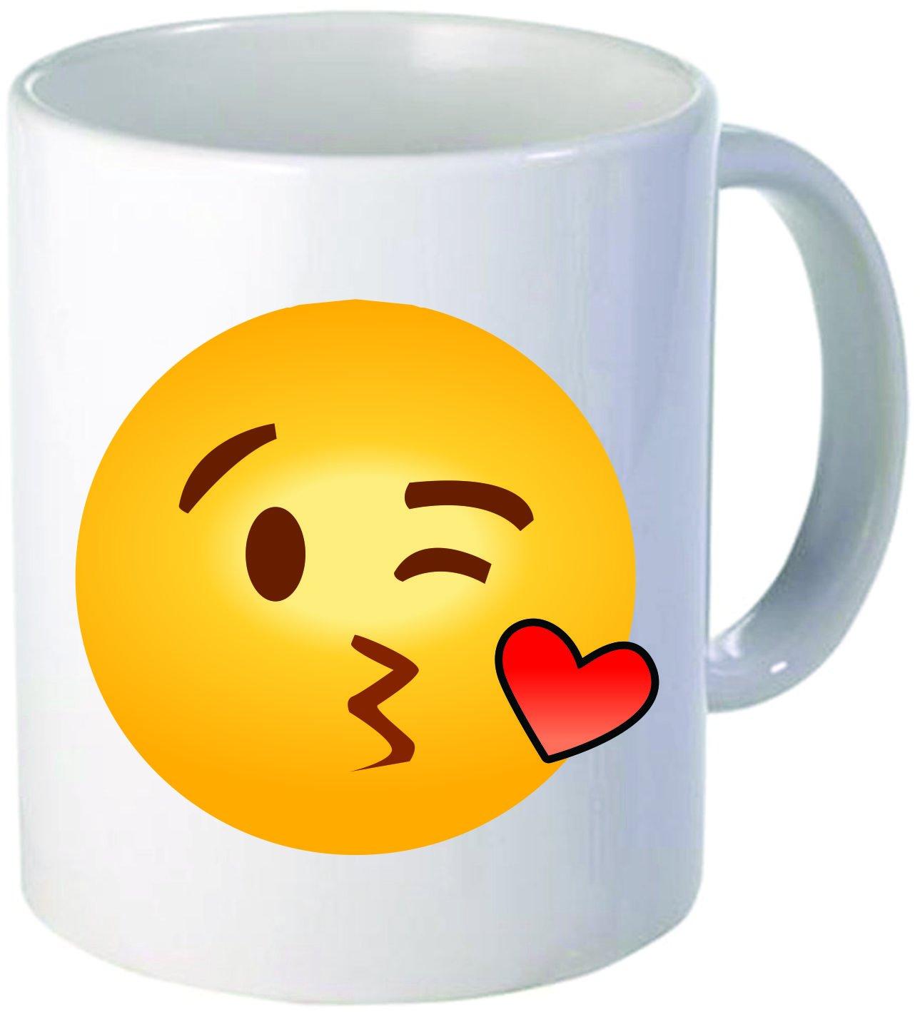 Smiley Face Coffee Mug Amazoncom Funny Coffee Mug 11oz Ceramic Emoji Throwing A