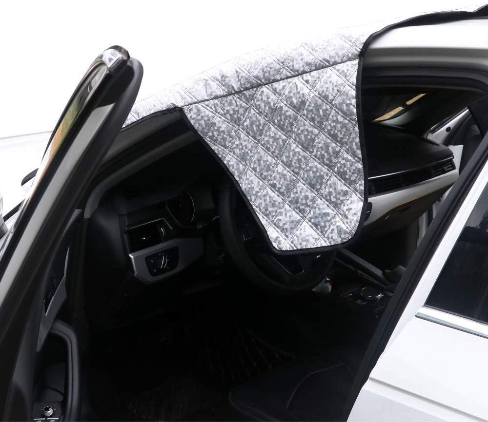 63.7W39.3H Supernova Universal Car Windshield Cover for Snow and Ice /& Sun Shade Protector Fits for Pickup Trucks /& Large SUVs - X-Large