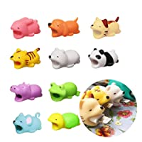 [Pack of 10]Cable Bites, JOYFULBID Cable Bite Compatible Iphone Cable Cord Animal Phone Accessory Protects Cute Tidy Compatible Iphone Charging Cable (Random Animal Modeling)
