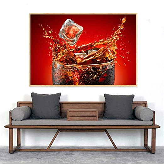 RQJOPE Jugo de Fruta Pintura de Alimentos Bebidas de Hielo ...