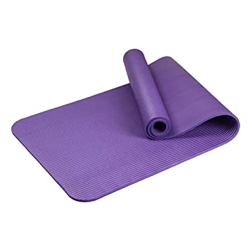 QIHANG-UK Yoga Mat Non Slip Extra Thick Pilates Workout Exercise Fitness Mat  Carrying Strap Beginners Yoga Mats Home Gym 10mm Thick  Amazon.co.uk   Sports   ... f97300c73bc8