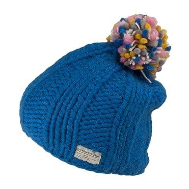 cf76ba83d5139d Kusan Hats Multi Pom Bobble Hat - Royal Blue 1-Size: Amazon.co.uk: Clothing