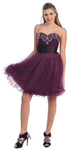 May Queen MQ700 Homecoming Strapless Short Dress
