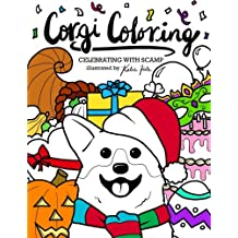Corgi Coloring: Celebrating with Scamp