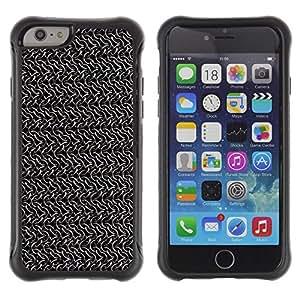 iKiki Tech / Estuche rígido - Wallpaper Random Chains Metal Silver Grey - Apple iPhone 6 PLUS 5.5