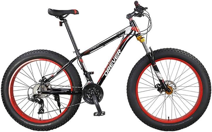 TOOLS Mountain Bike Bicicleta para Joven Bicicletas Fat Tire Bike MTB Camino de la Bicicleta Adulto Agua Motos de Nieve Bicicletas for Hombres Mujeres (Color : Red): Amazon.es: Hogar