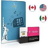 Prepaid SIM card USA, Canada & Mexico - 20GB 4G LTE - International Calls & Texts - 30 Days
