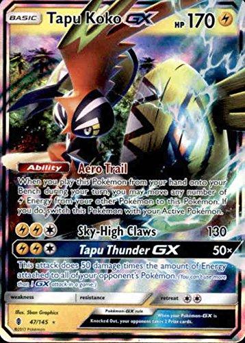 Sun /& Moon: Guardians Rising Pokemon USA SG/_B072BGN4F7/_US Ultra Rare Tapu Koko-GX 47//145