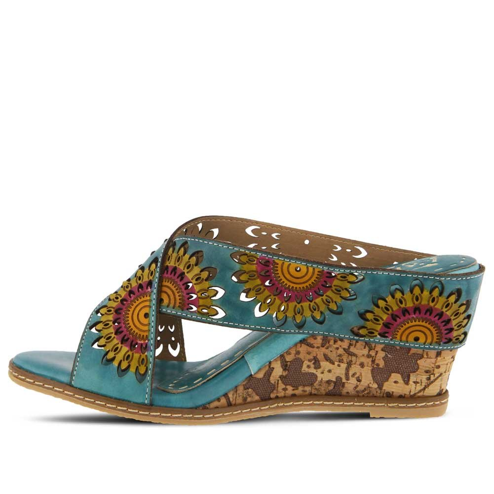 dca95e554d Amazon.com | L'Artiste by Spring Step Women's Style Enticing Turquoise EURO  Size 41 Leather Sandal | Heeled Sandals