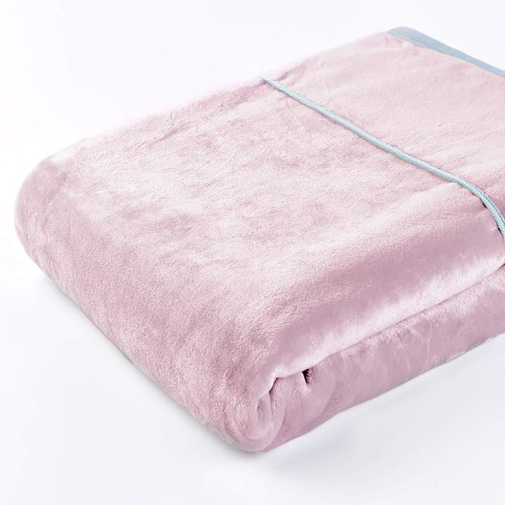 WJ 毛布, スーパーソフトブランケット、 ブランケットネイビーブルートラベルサイズを投げる、 ベッドは暖かい可逆的なマイクロファイバーを投げる   ベッドとソファーのためのソリッドブランケット、 4色、 4サイズ (色 : Pink, サイズ さいず : 200*230センチメートル) B07LFCFTBX Pink 200*230センチメートル