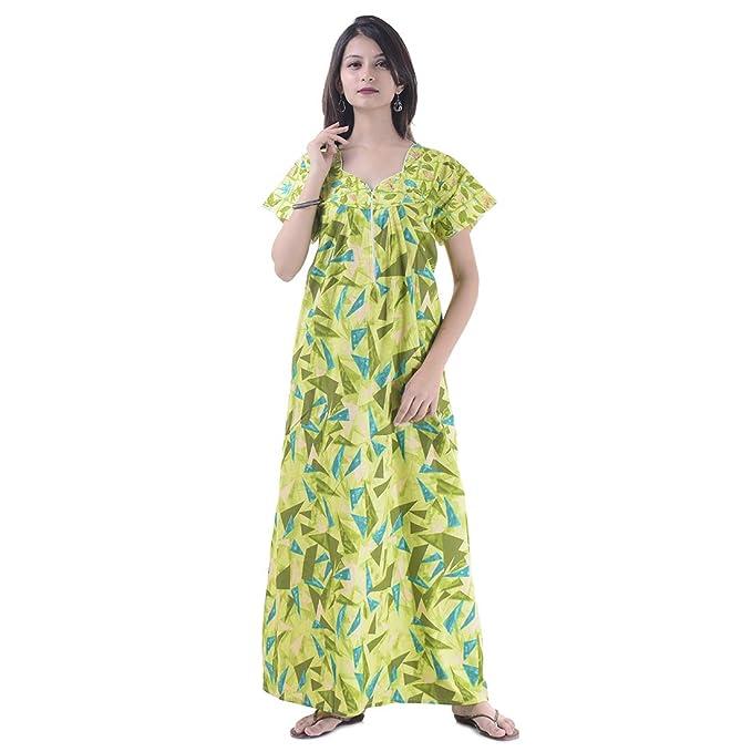 Women Cotton Night Wear Gown Sexy Nighties Nighty Sleepwear Indian Dress Long Skirt Maxi Bath Robe