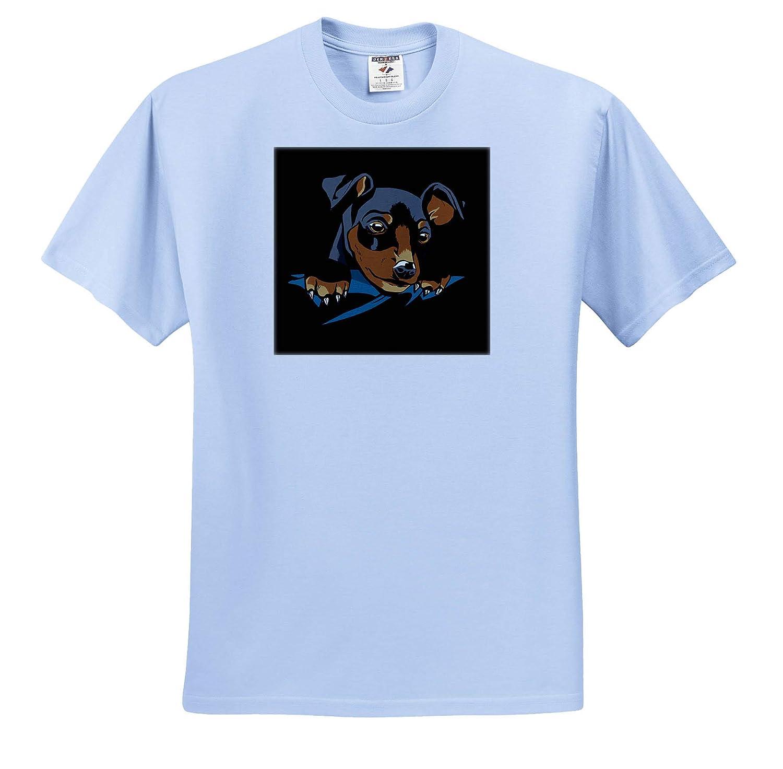 T-Shirts 3dRose Sven Herkenrath Dogs Funny Puppy Illustration Art of Doberman Dog