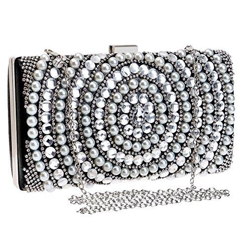 Bag 4 Dress Luxury Clutch Women's Bride Ladies Pearl Color European American Bag Fashion QEQE Bag 1 Banquet Crossbody And Evening 0Hqwf