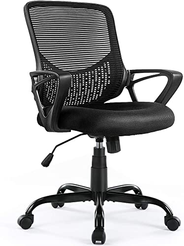Ergonomic Office Chair Lumbar Support Mesh Chair Computer Desk Task Chair